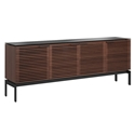 BDi Corridor SV 7129 Chocolate Stained Walnut Modern Media Console
