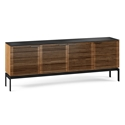 BDi Corridor SV 4-Door Modern Media Stand in Walnut