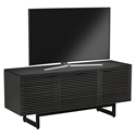 BDi Corridor Charcoal Stained Ash + Powder Coated Steel Modern TV Stand