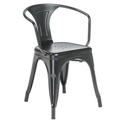 Cynthia Matte Black Modern European Arm Chair
