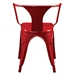 Cynthia Red Modern Industrial Arm Chair