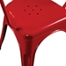Cynthia Red Modern Arm Chair Detail