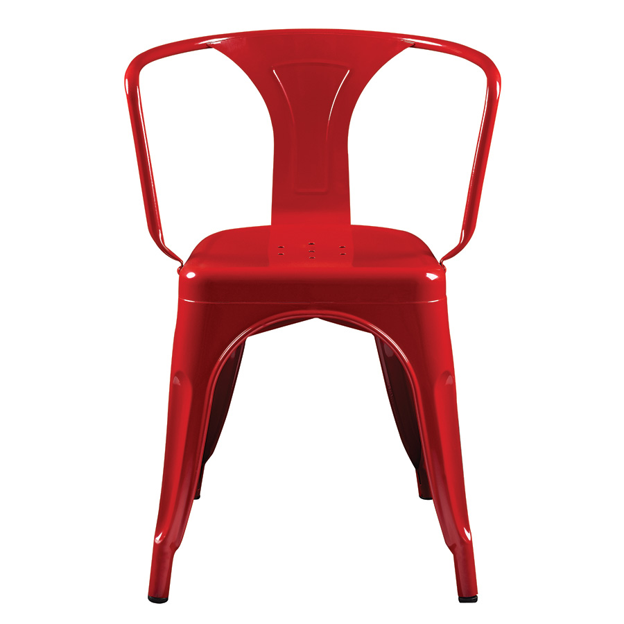 corsair red modern bistro arm chair  eurway furniture -  corsair red contemporary arm chair