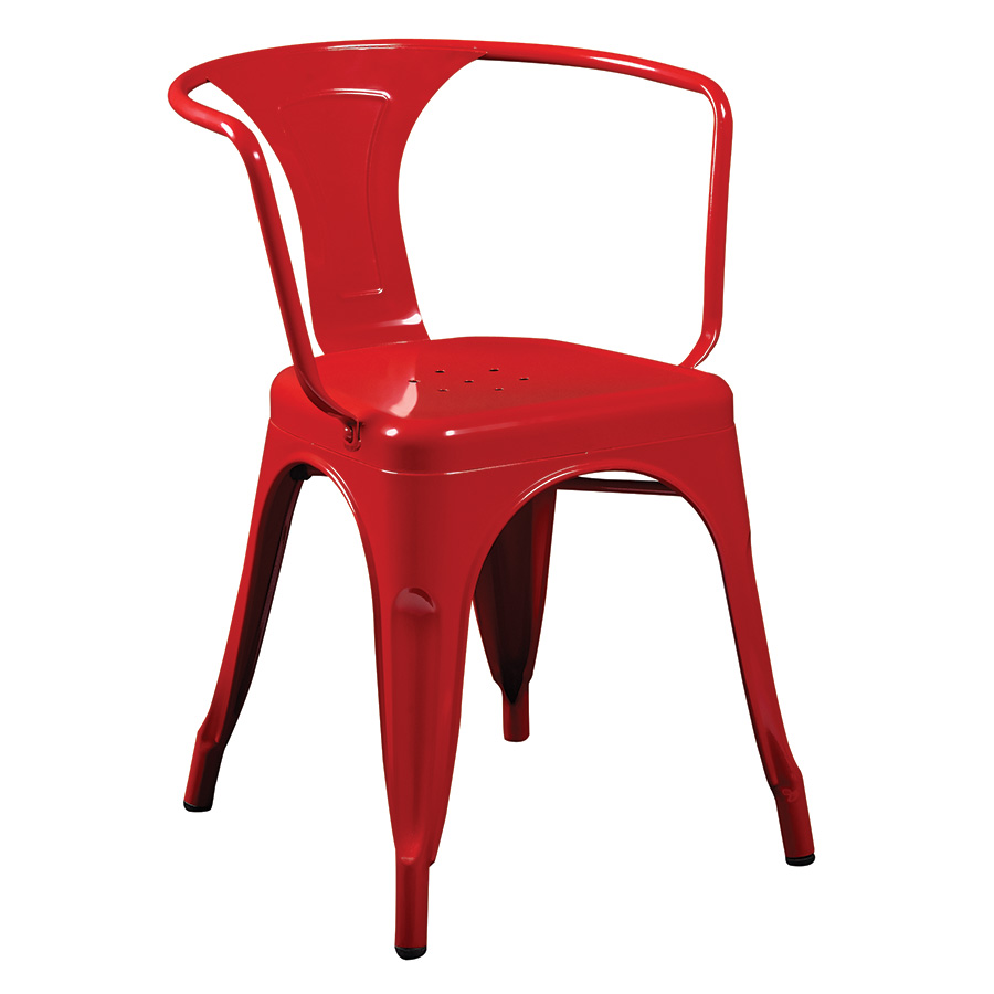 Red Modern Chairs Baxton Studio Pascal Plastic Mid