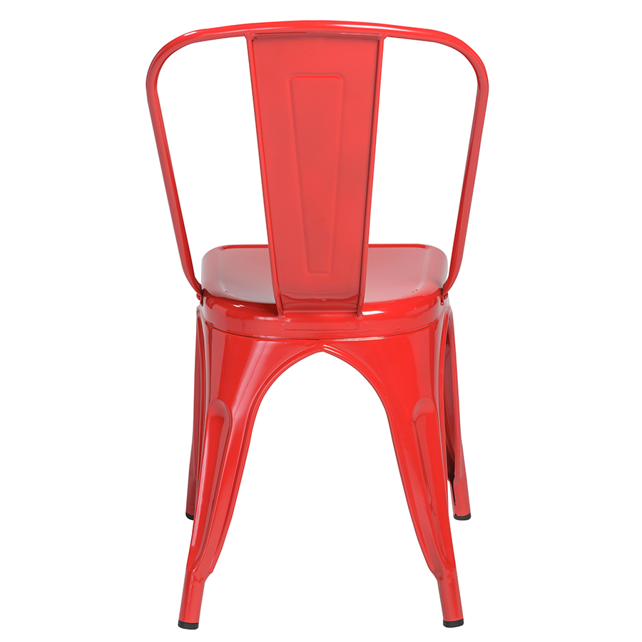 ... Side Chair · Corsair Red Metal Bistro Modern Dining Chair ...