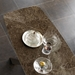 Pezzan Cosmo Emperador Marble Ceramic Top Dining Table