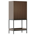 BDI Cosmo Toasted Walnut Modern Bar Cabinet