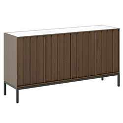 BDI Cosmo Modern Storage Console in Toasted Walnut