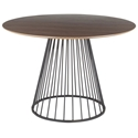 Council Modern Round Walnut + Black Dining Table