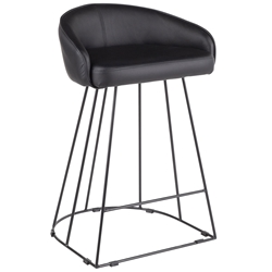 Council Modern All Black Counter Stool