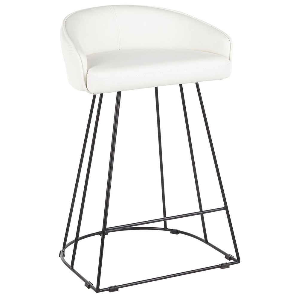 Council Black White Modern Counter Stool Eurway
