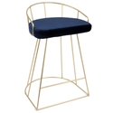 Council Modern Gold + Blue Counter Stool