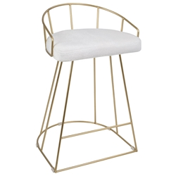 Council Modern Gold + White Counter Stool