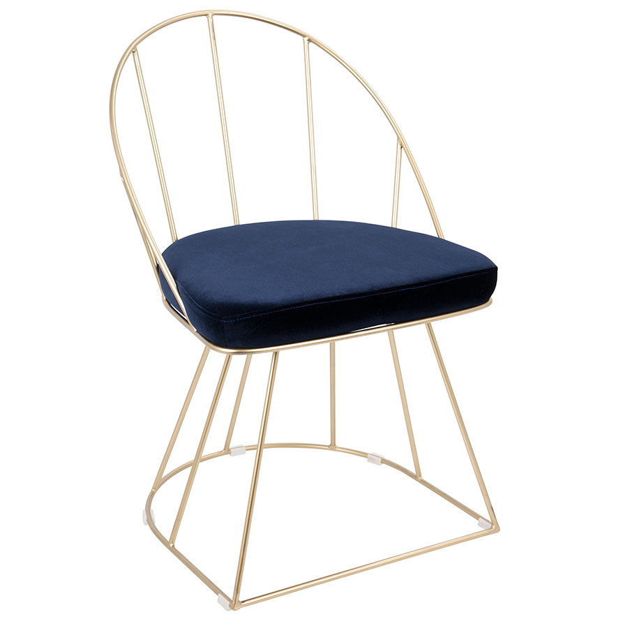 Council Gold + Blue Modern Dining Chair