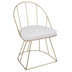 Council Gold + White Modern Dining Chair