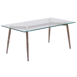 Courtyard Modern Glass Top Coffee Table