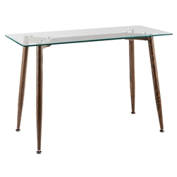 Courtyard Modern Glass Top Console Table
