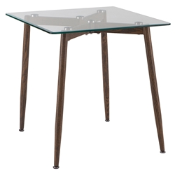 Courtyard Modern Glass Top End Table