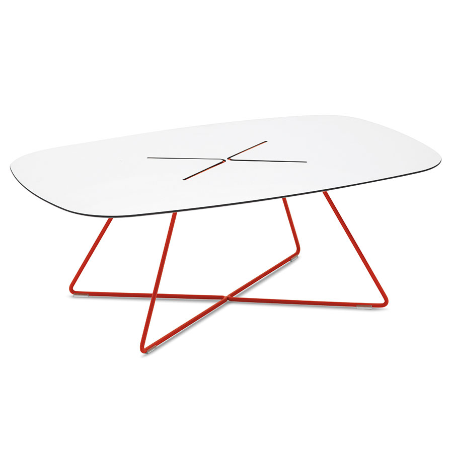 Modern Cocktail Tables Craig Red Coffee Table Eurway