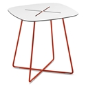Craig Red Modern End Table