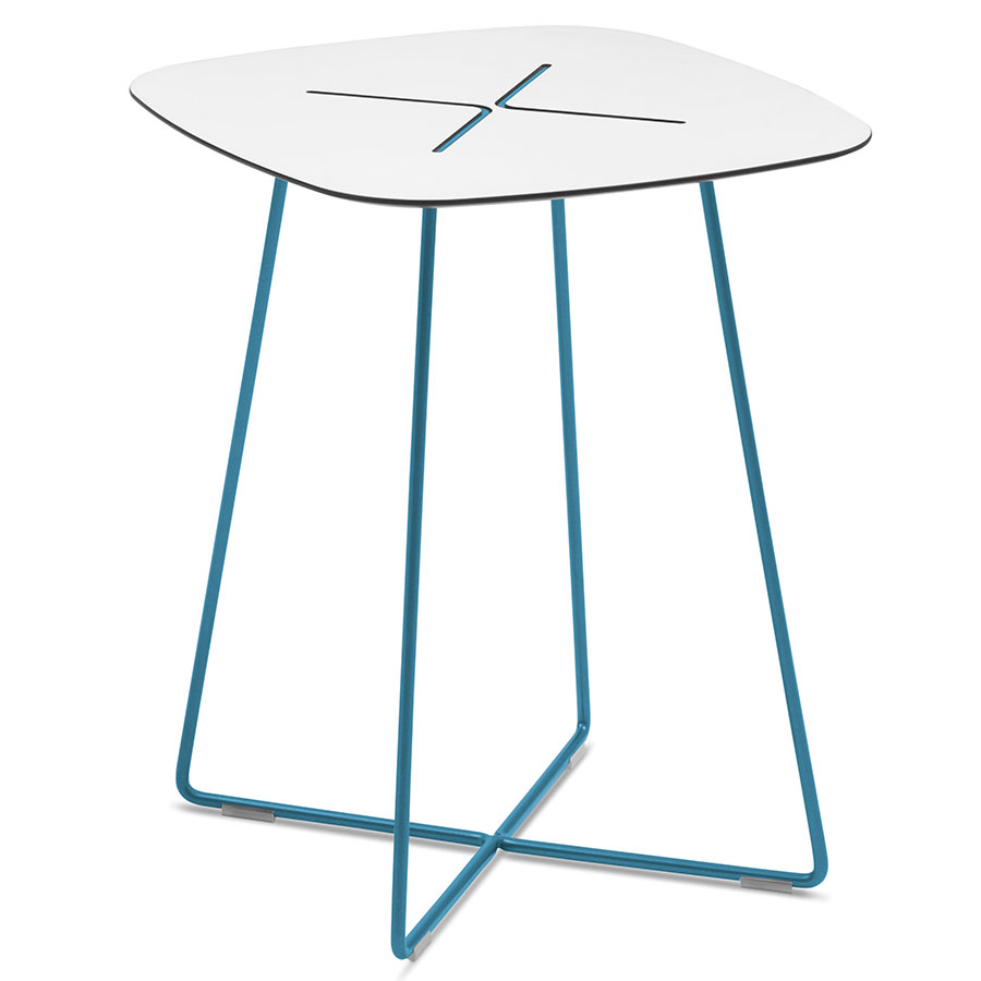 Craig Tall Turquoise Modern End Table
