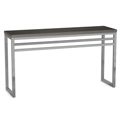 Crawford Modern Conosle Table by Amisco - Magnetite/Earl Grey