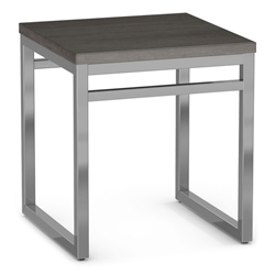 Crawford Modern End Table by Amisco - Magnetite/Earl Grey