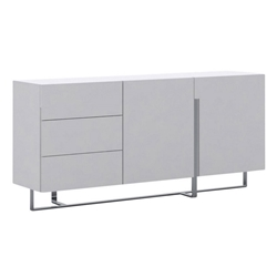Crestor White + Steel Modern Buffet