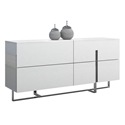 Clement White + Steel Modern Dresser