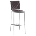 Criss Cross Modern Espresso Bar Stool by Zuo