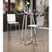 Criss Cross Contemporary White Bar Stool by Zuo