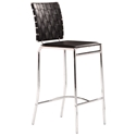 Criss Cross Modern Black Counter Stool by Zuo