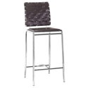 Criss Cross Modern Espresso Counter Stool by Zuo