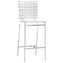Criss Cross Modern White Counter Stool by Zuo