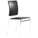 Criss Cross Modern Black Dining Chair by Zuo