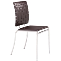 Criss Cross Modern Espresso Dining Chair by Zuo