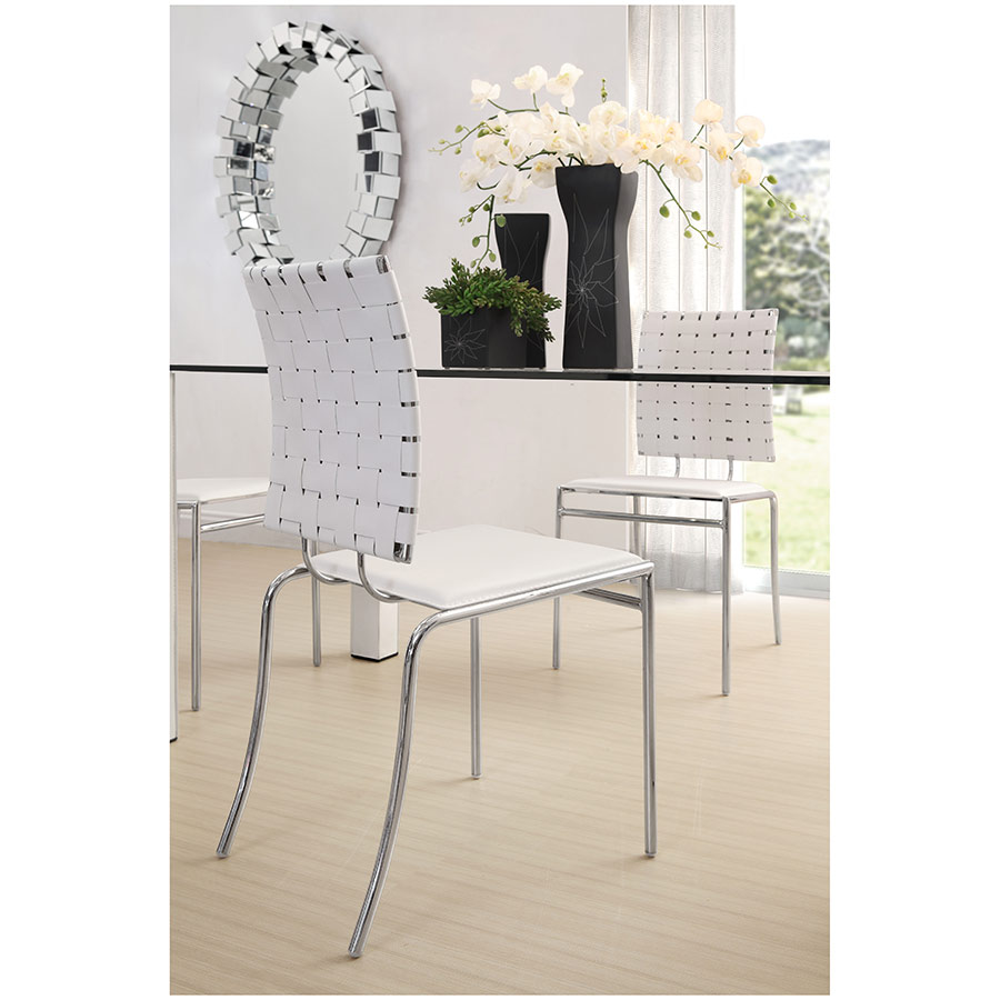 Attractive Criss Cross Dining Chair; Criss Cross Dining Chair In White
