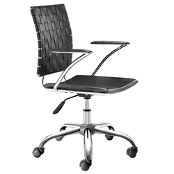 Criss Cross Modern Black Office Chair by Zuo