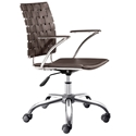 Criss Cross Modern Espresso Office Chair by Zuo