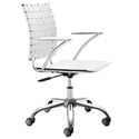 Criss Cross Modern White Office Chair by Zuo