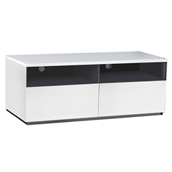 Cristiano White + Stainless Modern TV Stand