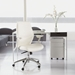 Crosby Low Back Office Chair in White - Room View