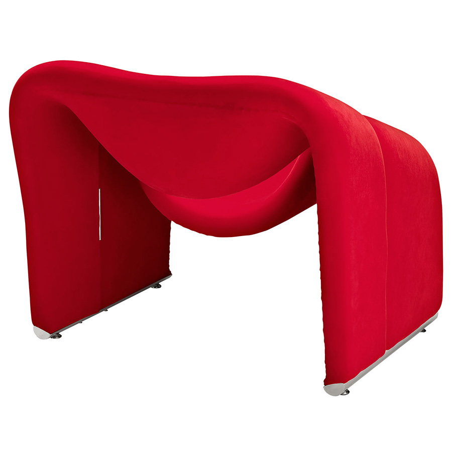 crush red chair  modern lounge chairs  eurway -  crush modern red chair  back view