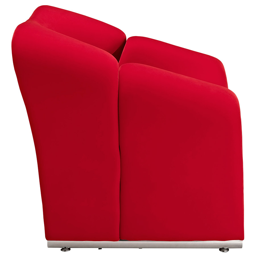crush red chair  modern lounge chairs  eurway - crush modern red chair · crush modern red chair  side view