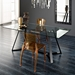 Crystal Contemporary Dining Chair in Amber