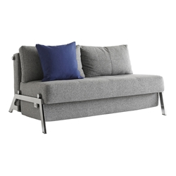 Cubed Full Size Modern Grey + Chrome Sleeper by Innovation