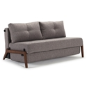 Cubed Modern Full Sleeper Loveseat in Grey + Wood by Innovation