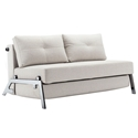 Cubed Modern Full Sleeper Loveseat in Natural + Chrome by Innovation