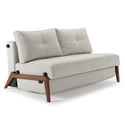 Cubed Modern Full Sleeper Loveseat in Natural + Wood by Innovation