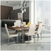 Curve Contemporary Dining Chair by Amisco